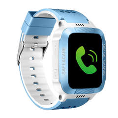 Y21 Child Waterproof Smart Watch Anti-lost Safe LBS Tracker SOS Call  For Android iOS Smart Watch blue white one size