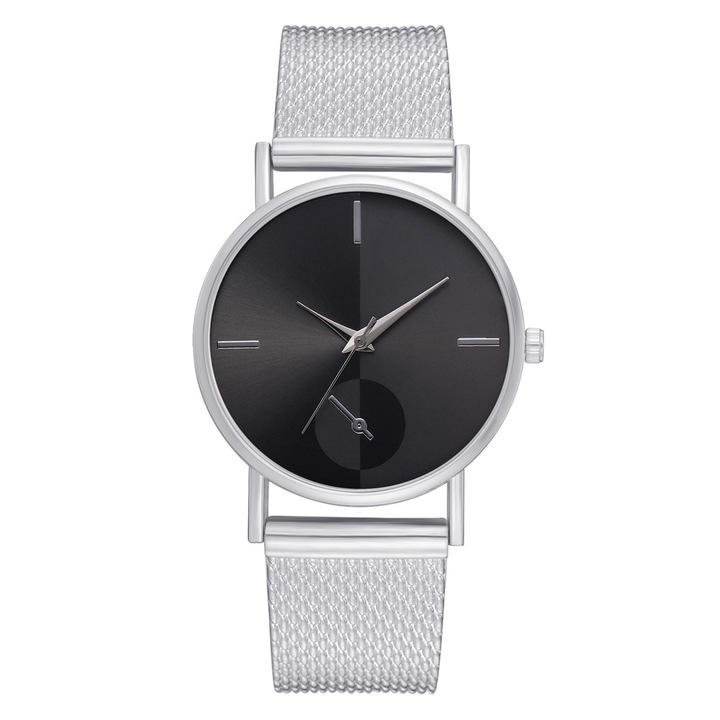 NEW Women's watch stainless steel band watch Fashion & Casual dropshipping women watch silver one size