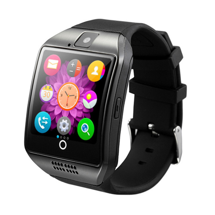 Man Bluetooth Smart Watch Touch Screen TF Sim Card Camera Multi-Function Smart Watch black one size