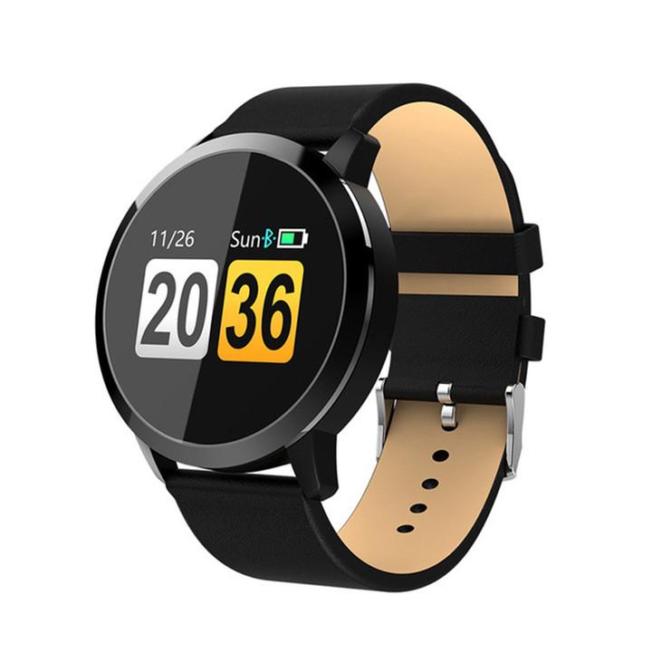 Q8 Bluetooth Pedometer Movement Ultra-Long Endurance Color Screen Smart Watch black one size