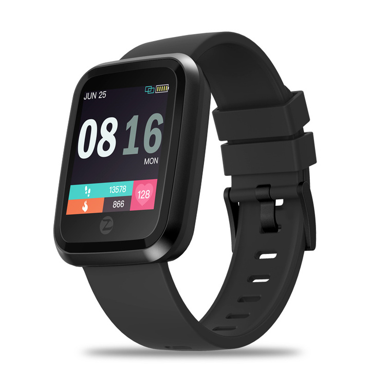 Crystal 2 IP67 Waterproof Hd Color Screen Heart Rate Monitor Smart Watch black one size