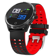 X7 1.04 inch Sports Bluetooth 4.0 IP68 Waterproof Heart Rate Pedometer Smart Watch red one size
