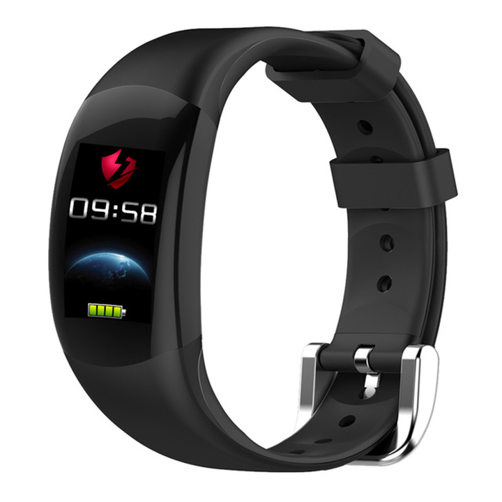 LT02 Smart Wristband Color LCD Fitness Heart Rate Monitor Fitness Waterproof Pedometer Smart Band black one size