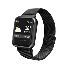P68 Sports Smart Watch Fitness Activity Tracker Heart Rate Monitor Blood Pressure Smart Watch black one size