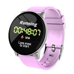 W8 Sport Blood Oxygen Waterproof Activity Fitness Tracker Heart Rate Monitor Smartwatch pink one size