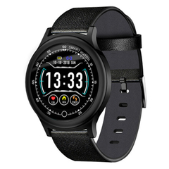 Q28 Fashion Round Screen IP68 Waterproof Fitness Tracker Bluetooth Smartwatch black one size