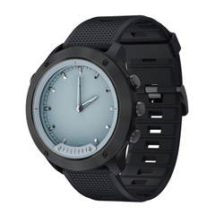 M5 Transparent Screen IP68 Waterproof Luminous Heart Rate Monitor Smartwatch black one size
