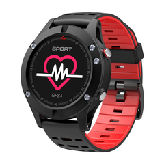 F5 Heart Rate Monitor GPS Bluetooth Fitness Tracker IP67 Smart   Watch red one size