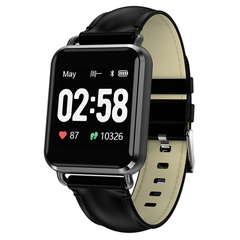 Q13 1.3-INCH Heart Rate Monitor Sports 200MAH Bluetooth Smart Watchtch black one size