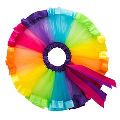 Girl tulle skirt rainbow,Tutu skirt for baby girl,children skirt. 1 L