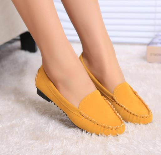ladies summer flat shoes women flats yellow 35