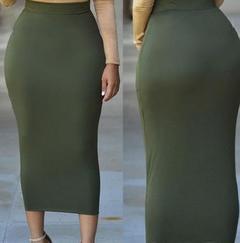 women summer High Waist skirts ladies career pencil skirt green s