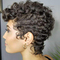 Short Natural synthetic Curly Wigs Glueless Short Pixie Cut Bob Human Hair for Black Women As pictures 8cm 80g