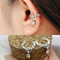2019 New Crystal Earrings Non Piercing droplets Hoop Ear Cuffs Cartilage Earless Hole Ear Clip-On Silver One size(1piece)
