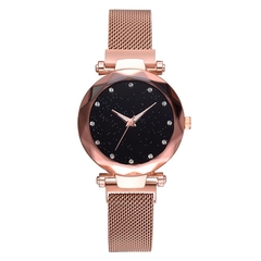 Hoki Luxury Women Watches Magnetic Starry Sky Female Clock Geometric Quartz Wristwatch Ladies Gold One size