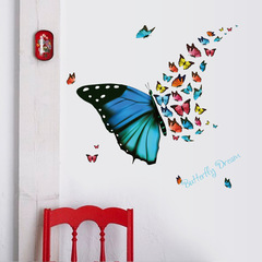 Beautiful Butterfly Art Wall Sticker For Home Decor DIY Mural Child Room Nursery Decoration Butterfly sticker 30*60 cm
