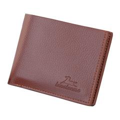 Casual Men's Wallets Men Pu Leather Slim Bifold Short Purses Credit Card Holder Business Male Purse Light brown 11*9.5cm Cross