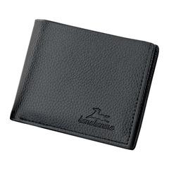 Casual Men's Short Wallets Men Pu Leather Cross Wallet Slim Bifold Purses Credit Card Business Purse Black 11*9.5cm Cross
