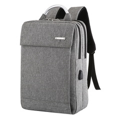Anti Theft Usb Laptop Backpack Business Large Capacity Backpack Travel Bagpack Student Bag gray one size