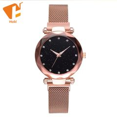 Hoki Luxury Women Watches Magnetic Female Clock Diamond Quartz Wristwatch Fashion Ladies Wrist Watch Gold One size