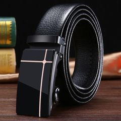 Men's Belt New Acrylic Automatic Buckle Belt Men's Business Belt Youth Clothing Matching 01 One size