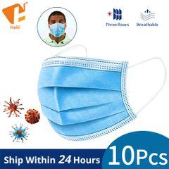 10PCS Disposable Masks Face Mouth health care 3 Layers Dustproof Maldehyde Prevent bacteria Masks 10 pcs/lot