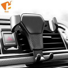 Universal Car Mobile Phone Holder Air Vent Mount Stand No Magnetic Cell Phone Holder Black One size