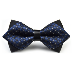 Men Bowtie Butterfly Knot Mens Accessories Cravat Formal Commercial Suit Wedding Ceremony Ties Blue One size