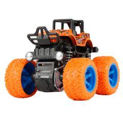 Inertia Four-Wheel-Drive off-Road Vehicle Children Simulation Model Car Anti-Shatterproof Toy Car Orange One size