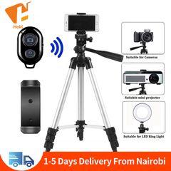 Tripod Mobile Camera Tripod Bluetooth Selfie Stick Stand Monopod Phone Holder Smartphone Tripod Silver 105cm