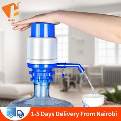 Handpress Water Dispenser water pump for Bottled Water Drinking Water Hand Press Manual Removable Blue&White