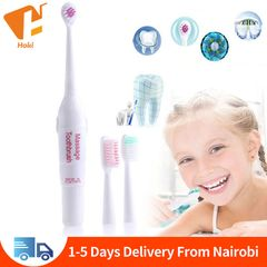 Electric Toothbrush With 3 Brush Heads Professional Oral Care Precision Clean(Batteries not included Multicolor One size