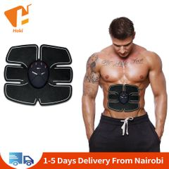 Abdominal Trainer Battery Home Fitness Abdomen Instrument Muscle Trainer Abdominal Paste Gift Black