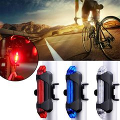 Bike Bicycle light Rechargeable LED Taillight USB Cycling light Portable Flash Light Super Bright red