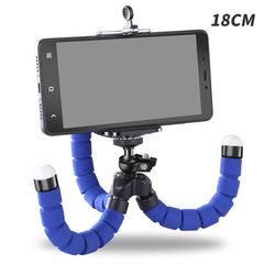 Phone Holder Flexible Octopus Tripod Bracket Selfie Expanding Stand Monopod For Mobile Phone Camera Blue One size