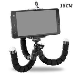 Phone Holder Flexible Octopus Tripod Bracket Selfie Expanding Stand Monopod For Mobile Phone Camera Black One size