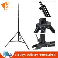 Portable Photography Tripod Sports Camera Mobile Live Photography 2.1M Telescopic Studio Tripod Black 2.1M