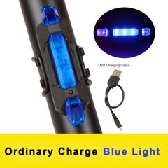 Bike Bicycle light Rechargeable LED Taillight USB Cycling light Portable Flash Light Super Bright Blue