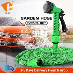 Garden Hose Pipe Water Hose Expandable Magic Hose 7 in 1 Water Gun to Water the Flowers Car Wash Green 100FT