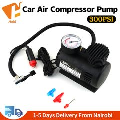 Car Auto Portable Mini Electric Air Compressor Kit For Ball Bicycle Minicar Tire Inflator Pump Black(300PSI)