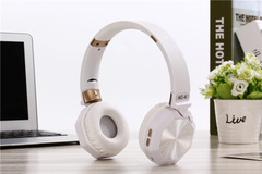 Headset Wireless Bluetooth Plug-in TF Card Comfortable Stereo Foldable Universal Long endurance AC-6 white