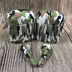 earphones wireless Bluetooth double i7s Superior quality Coloured drawing Leisure Long endurance White green camouflage