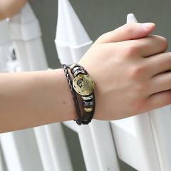 12 Constellation Men Leather Bracelet Birthday Gift Leather Adjustable Coolest Bracelet Jewelry Gift capricorn adjustable size