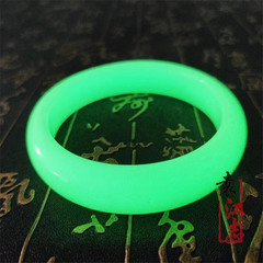 The luminous stone bracelet sends birthday gifts to mothers,girlfriends and friends. Yellow green light Inner diameter 58