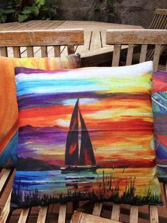 Cotton/ Linen Cushion Covers, Heavy Durable Non-fade fabric Nostalgia 8 45 by 45 cm
