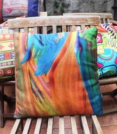 Cotton/ Linen Cushion Covers, Heavy Durable Non-fade fabric Abstract 9 45 by 45 cm