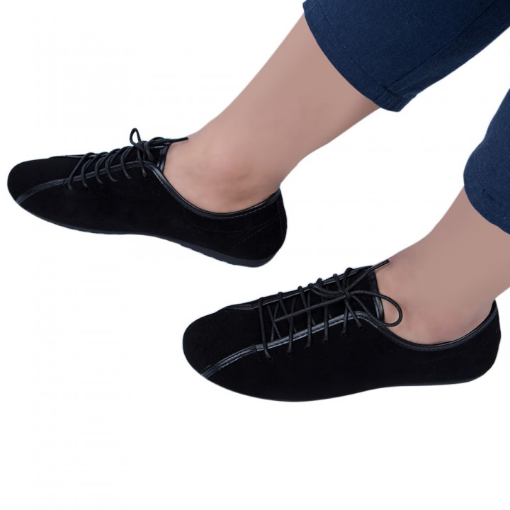 Casual Men Breathable Leather Shoes Black 41