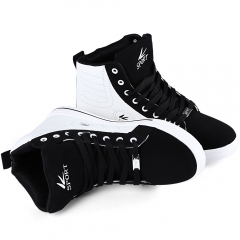 Fashion Men Casual Sport Athletic Running Sneakers High Top Shoe White with Black 43