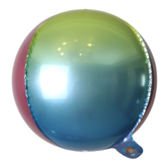10 inch rainbow color 4D Round balloon ball balloon custom logo Foil Balloons Rainbow color 10 inch