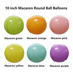 10 inch macaron 4D Round balloon balloon ball balloon custom logo Foil Balloons macaron orange 10 inch